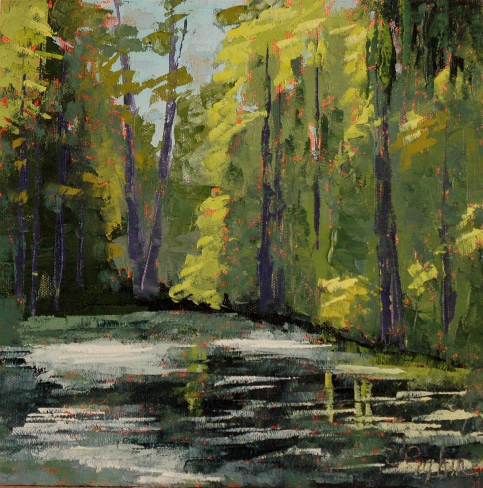 """Sun-lite Swamp"" original fine art by Carol Pighin"