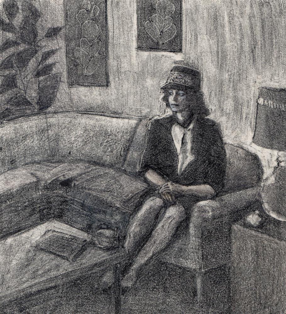 """Monotype: Waiting for Rain (& a new tutorial video, & some #linklove)"" original fine art by Belinda Del Pesco"