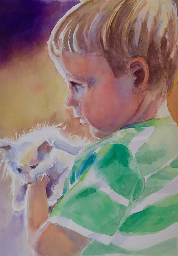 """St. Pat's Boy"" original fine art by Reveille Kennedy"