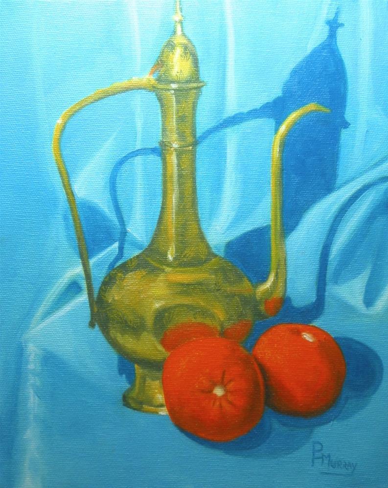 """Brass Pot #2"" original fine art by Patricia Murray"