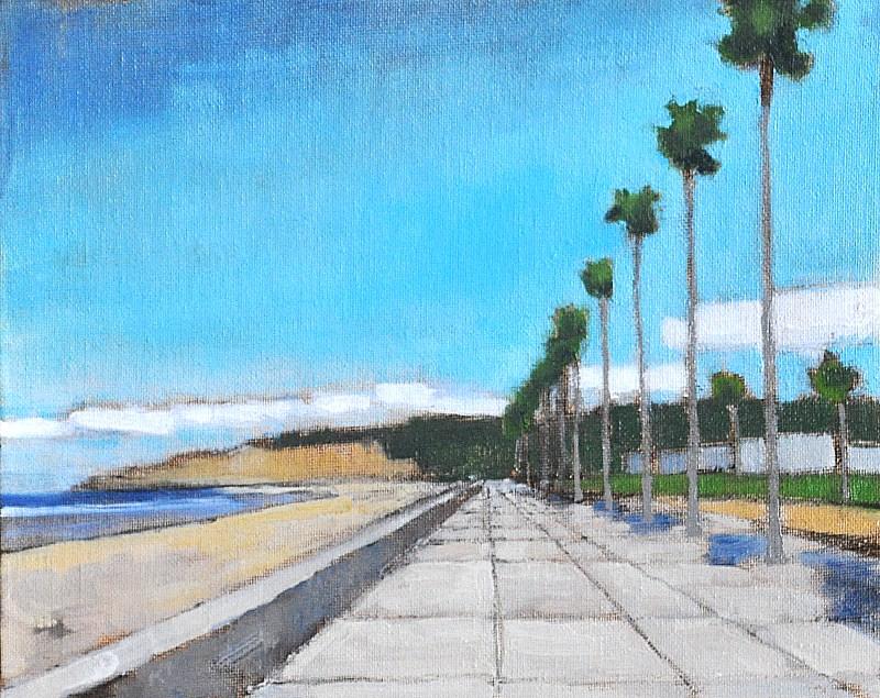 """""""Palms in La Jolla"""" original fine art by Kevin Inman"""