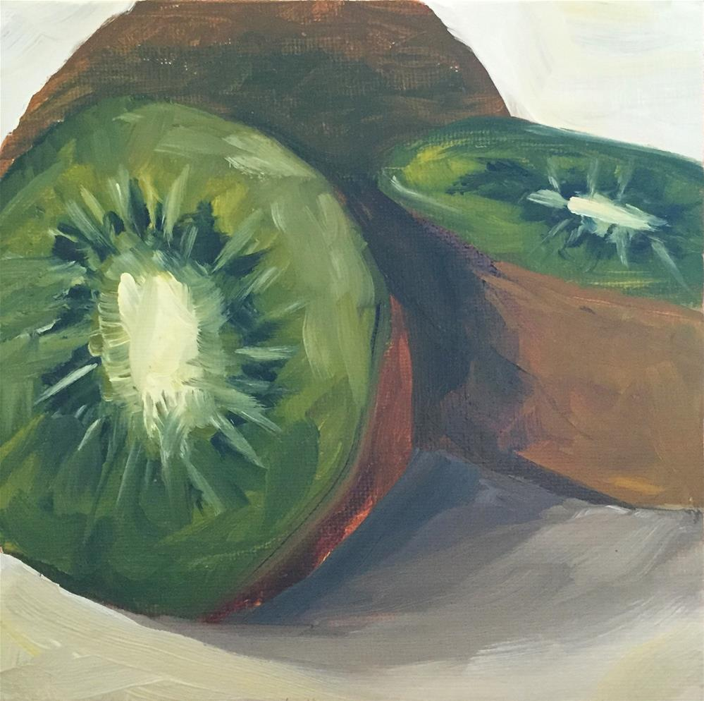 """Kiwi-k-n-easy"" original fine art by Renee Robison"
