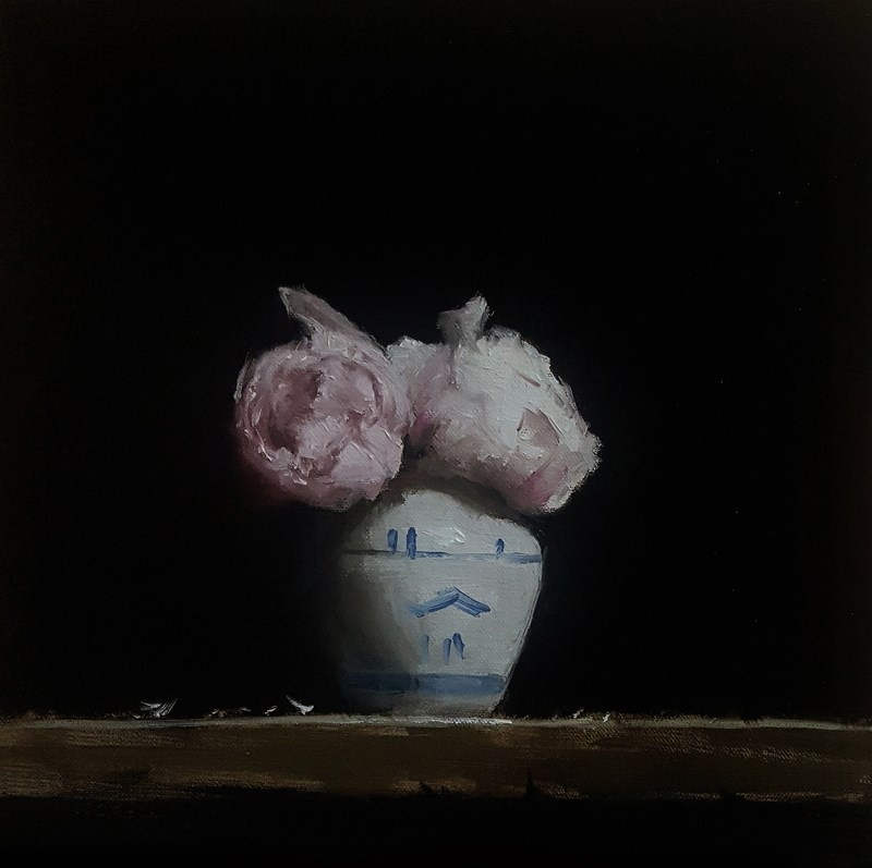 """Peony Vase"" original fine art by Neil Carroll"