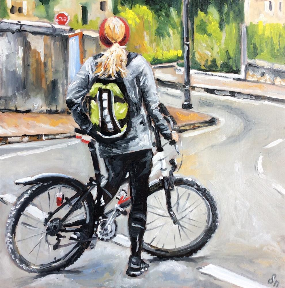 """Mountainbike Tour"" original fine art by Sonja Neumann"