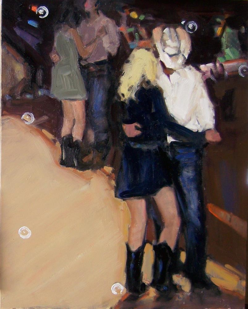 """Boot Scootin' Night"" original fine art by Kim Roberti"