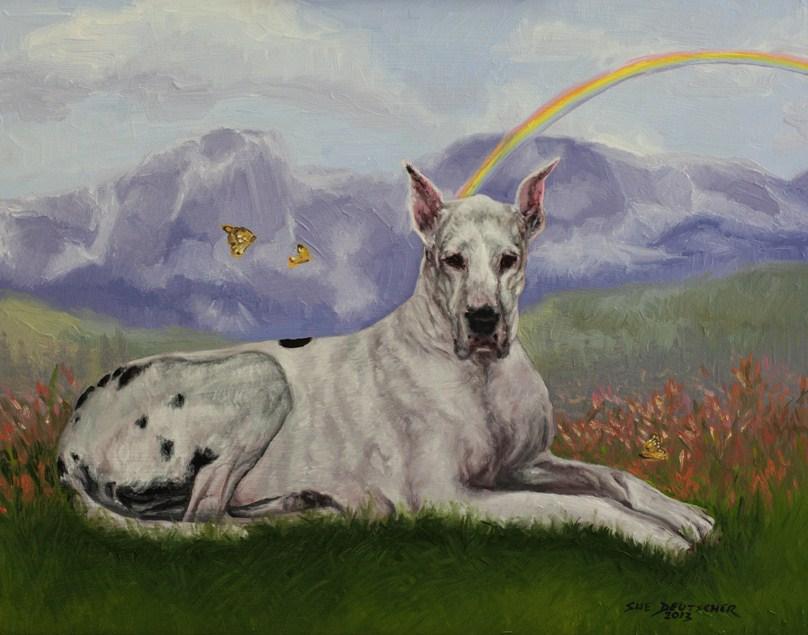 """""""Great Dane Pet Portrait"""" original fine art by Sue Deutscher"""