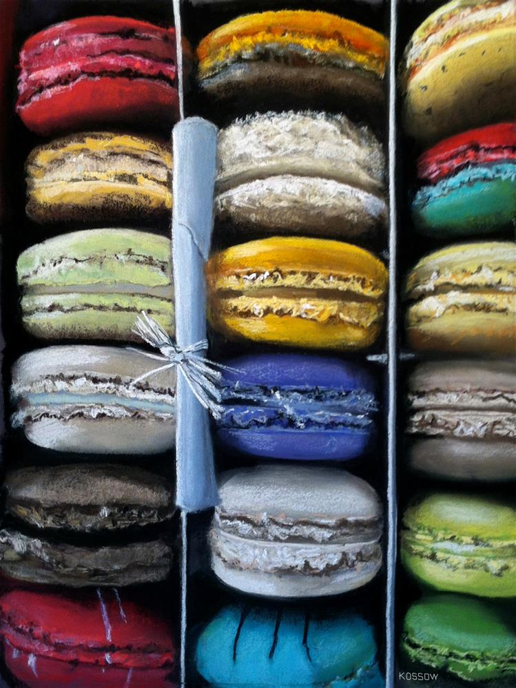 """Macaroon Rainbow"" original fine art by Cristine Kossow"