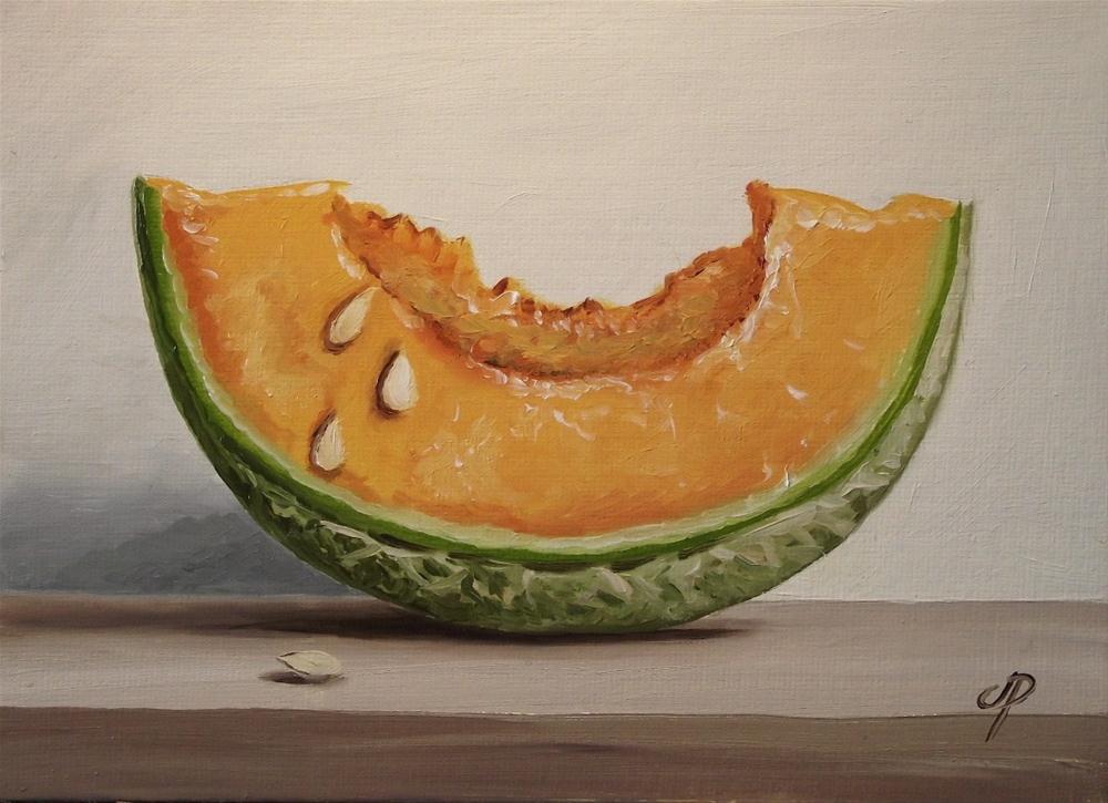 """Cantaloupe Melon"" original fine art by Jane Palmer"