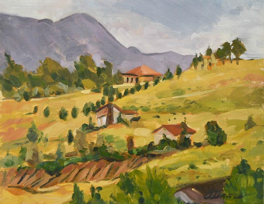 """""""Hillside"""" original fine art by April Dawes"""
