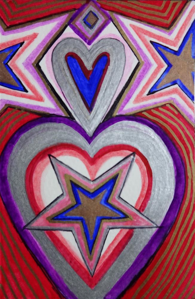 """6031 - The Patriot - Happy Heart VII"" original fine art by Sea Dean"