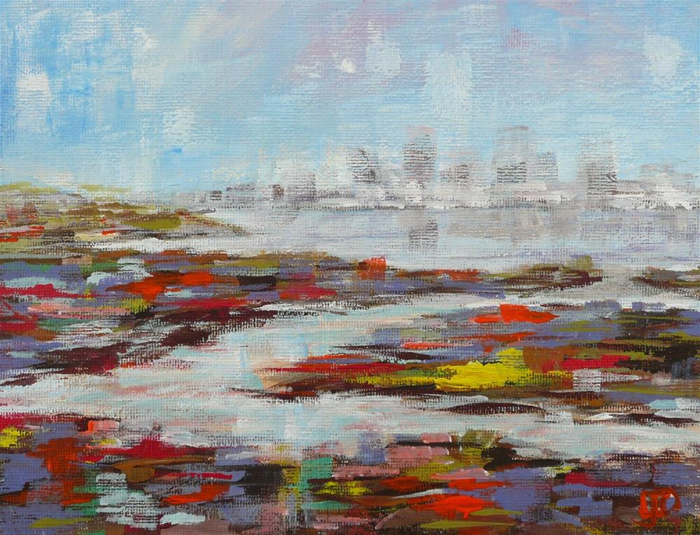 """City Mirage"" original fine art by Leanne Owen"