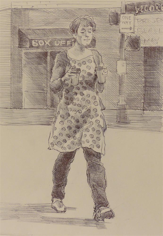 """500Faces-138"" original fine art by Katya Minkina"