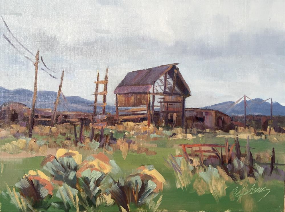 """Ralph's Barn"" original fine art by Mary Jabens"