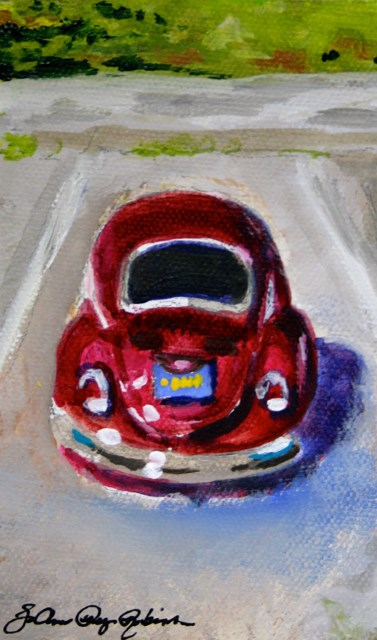 """Red Bug"" original fine art by JoAnne Perez Robinson"