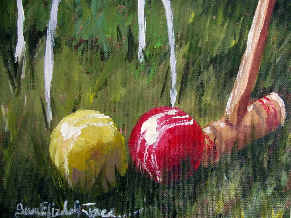 """Sticky Wicket"" original fine art by Susan Elizabeth Jones"