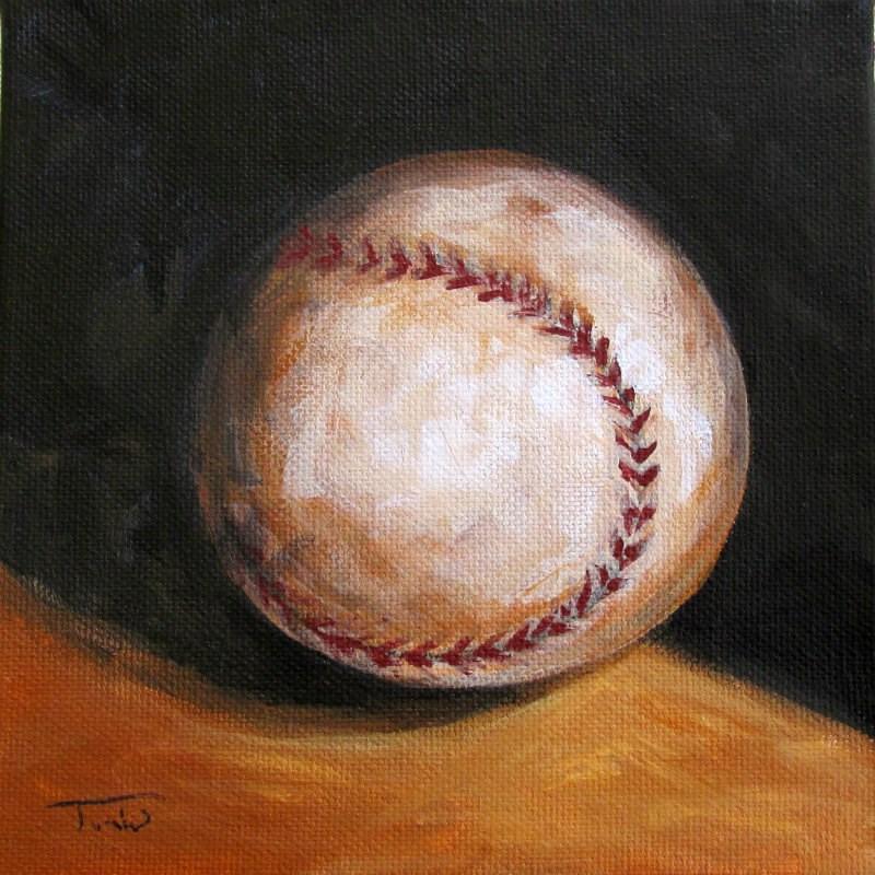 """""""Baseball IV"""" original fine art by Torrie Smiley"""