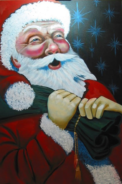 """Ho Ho Ho"" original fine art by Patricia Murray"