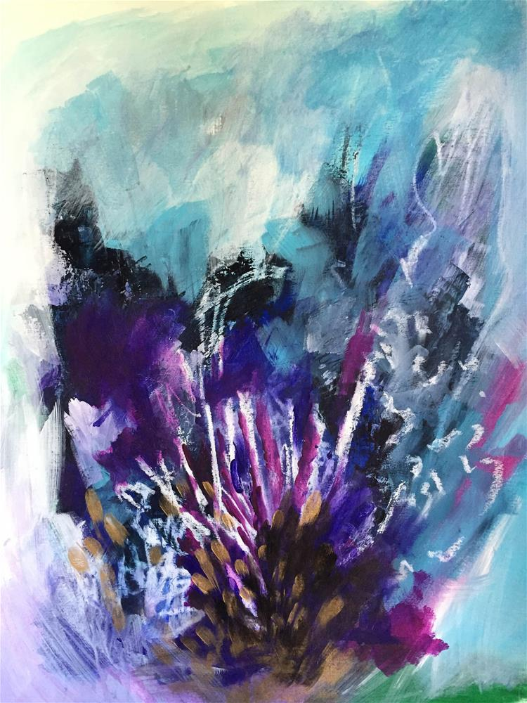 """Indigo #2"" original fine art by Vy Ngo"