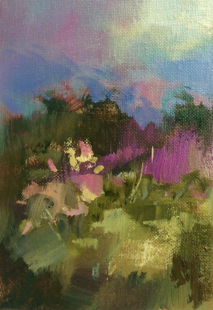 """Wild Garden 2."" original fine art by Anne Wood"