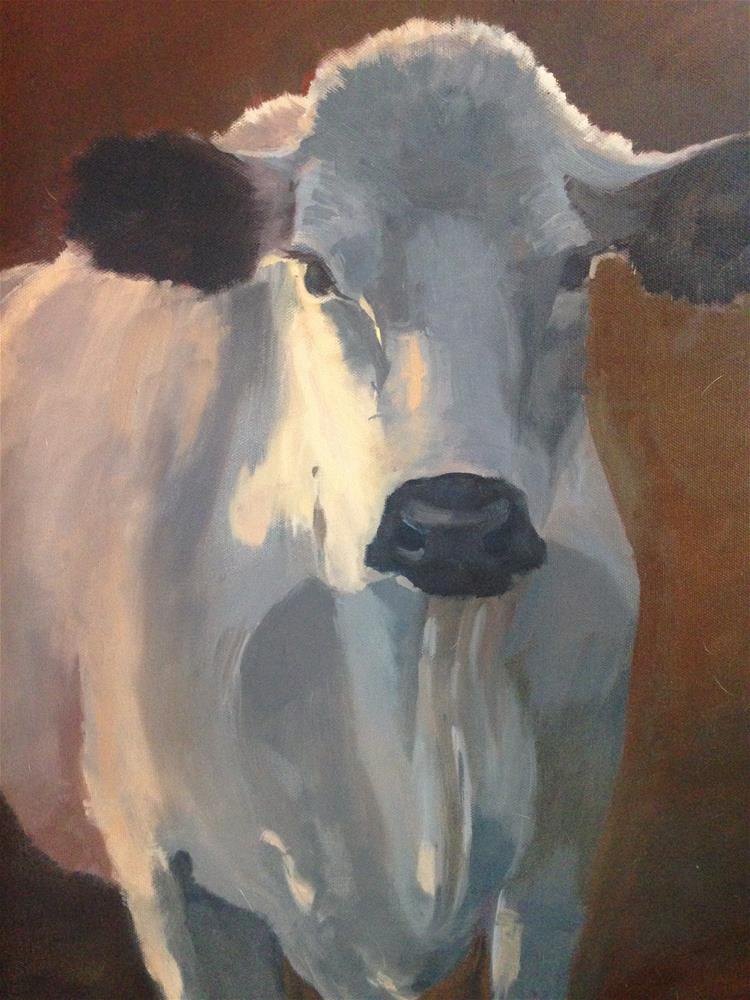 """Thinking it through"" original fine art by Patty Voje"