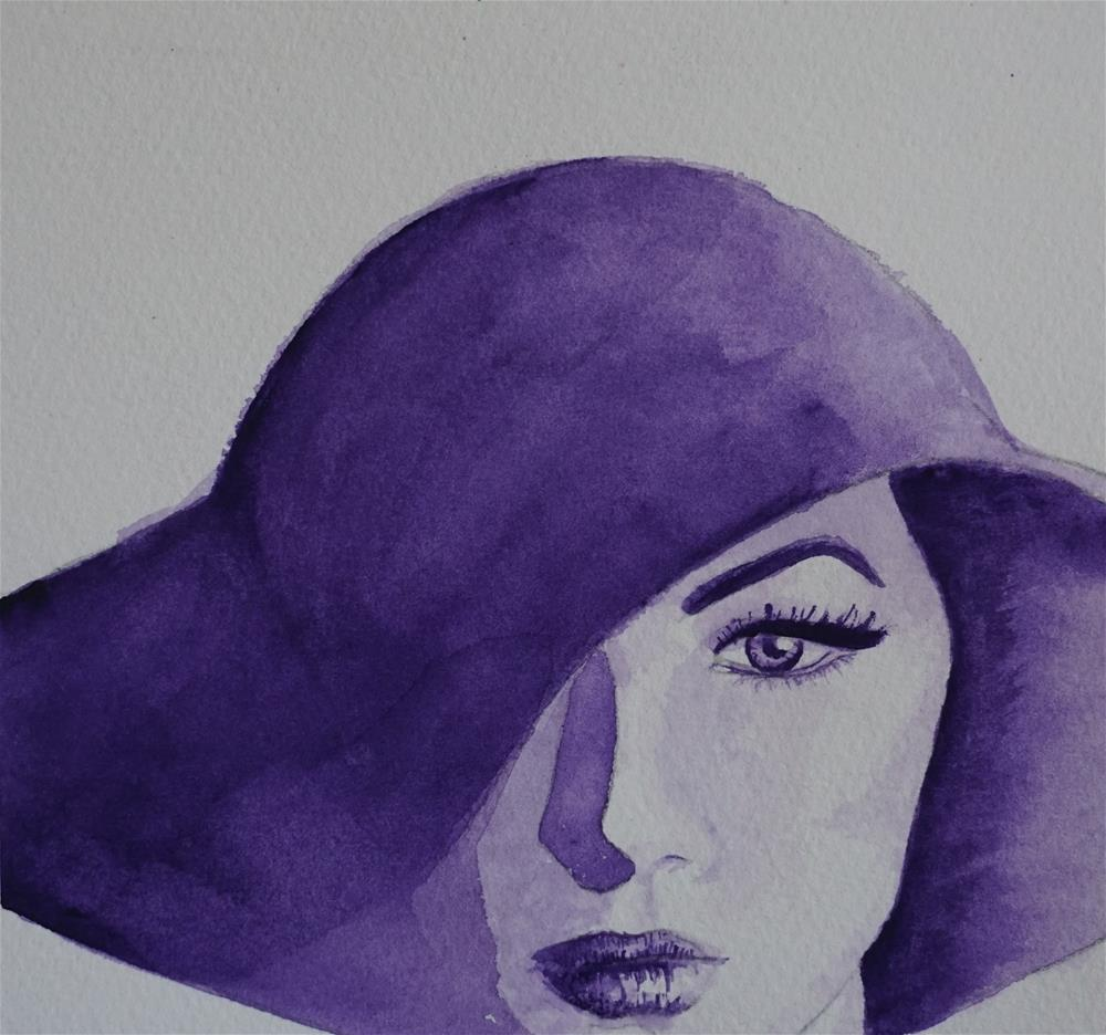 """Purple Mysterious"" original fine art by Gin Sen"