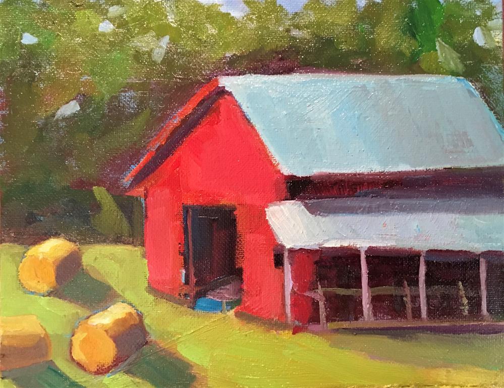 """Red Barn"" original fine art by Marcia Bergtholdt"