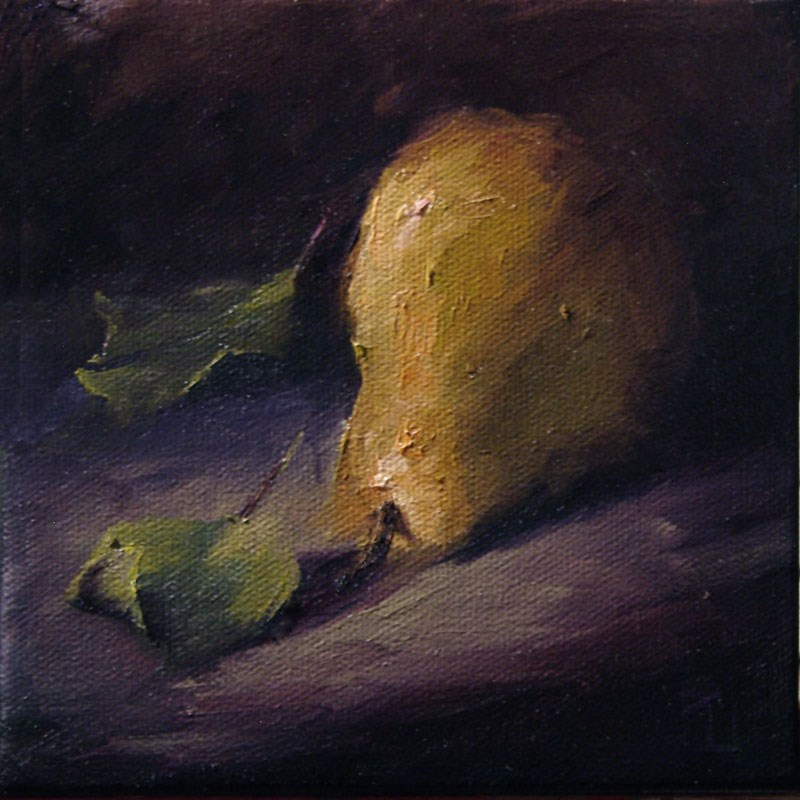 """Pear 3 Encore"" original fine art by Lori Twiggs"