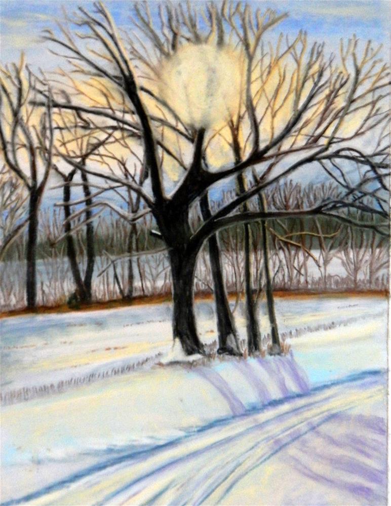 """Icy Dawn"" original fine art by Elaine Shortall"