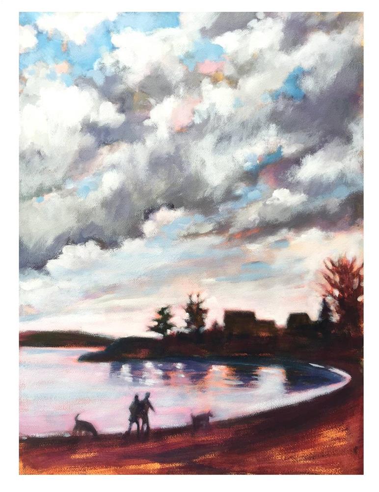 """Cloud Drama At Willard Beach"" original fine art by Suzanne Woodward"