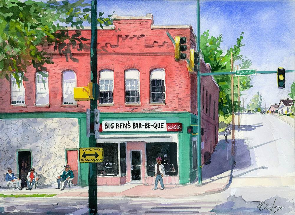"""""""Big Ben's BBQ in Chattanooga"""" original fine art by Chris Ousley"""