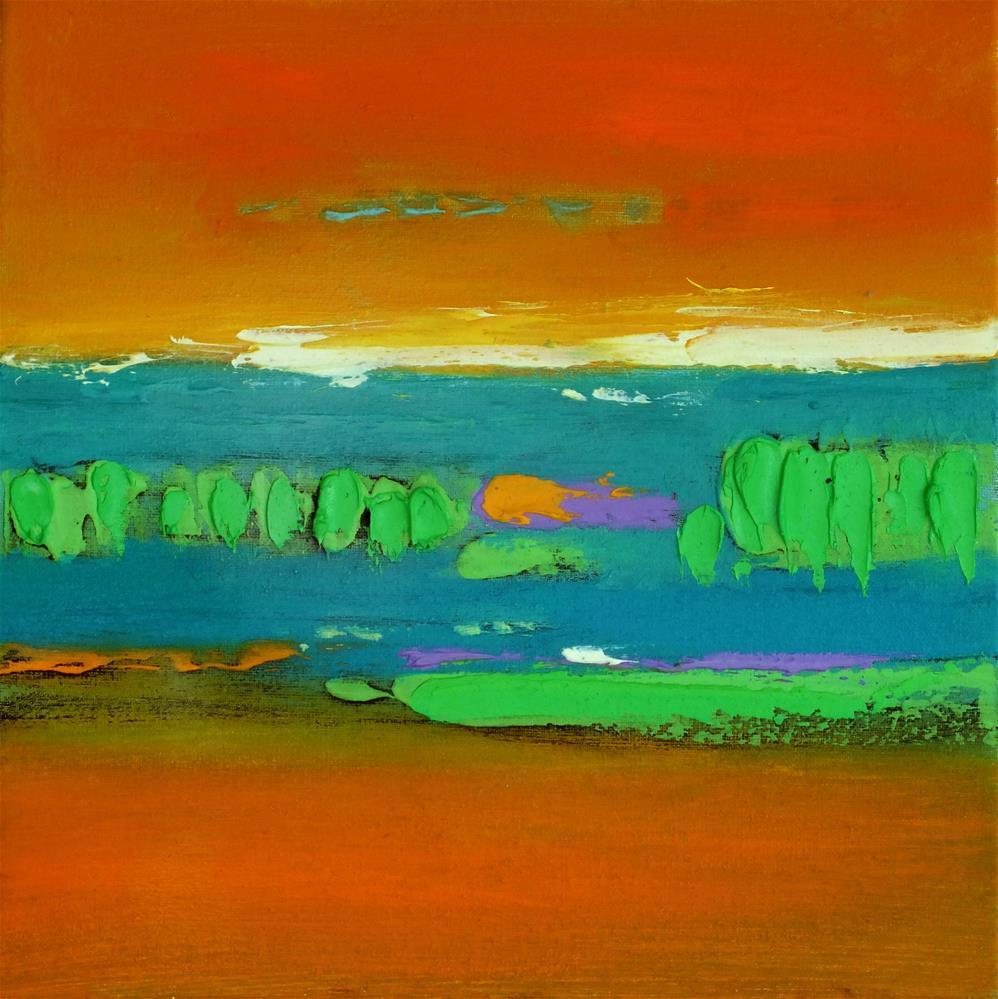 """Landscape 349"" original fine art by Ewa Kunicka"