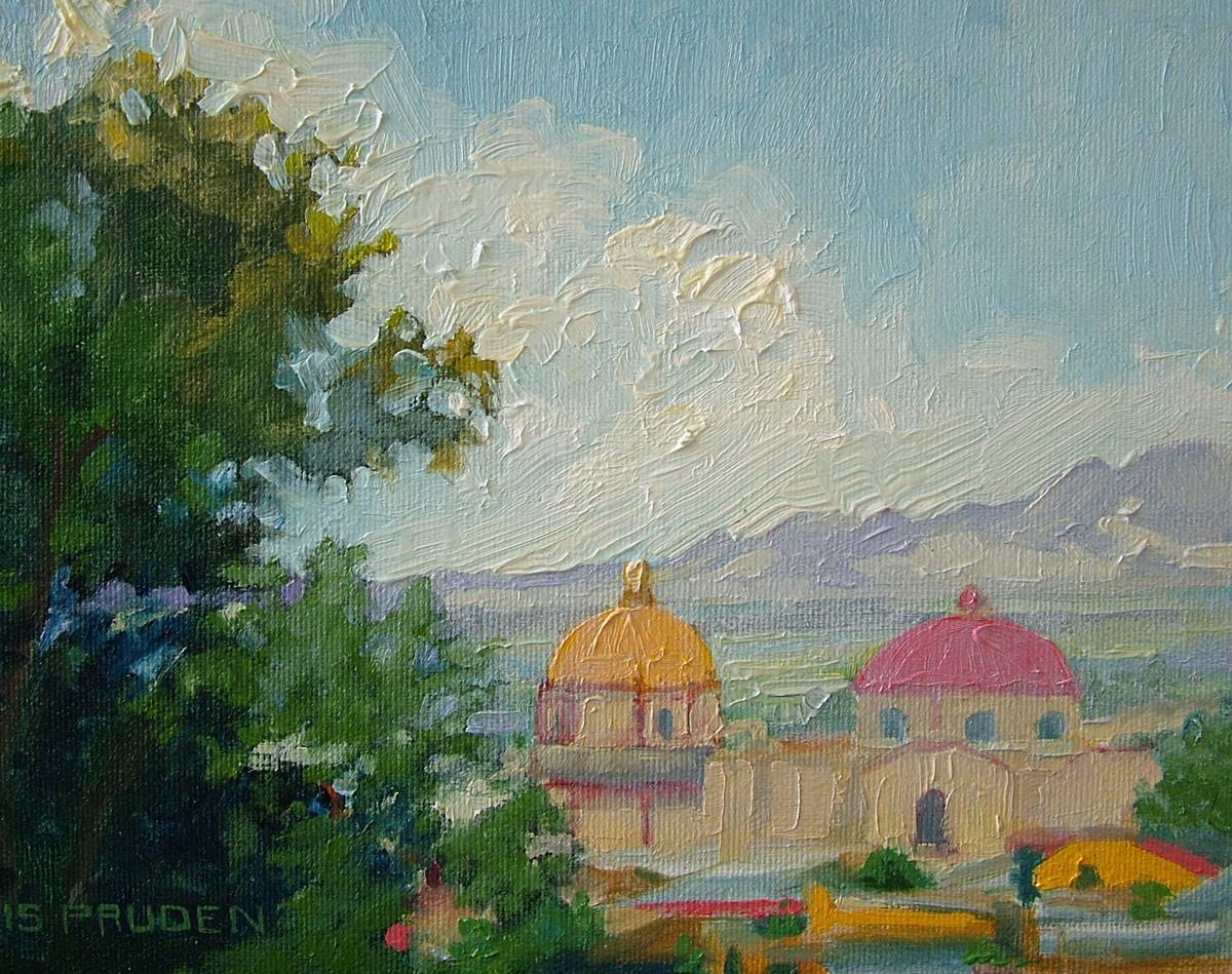 """Behind La Parroquia"" original fine art by Nancy Paris Pruden"