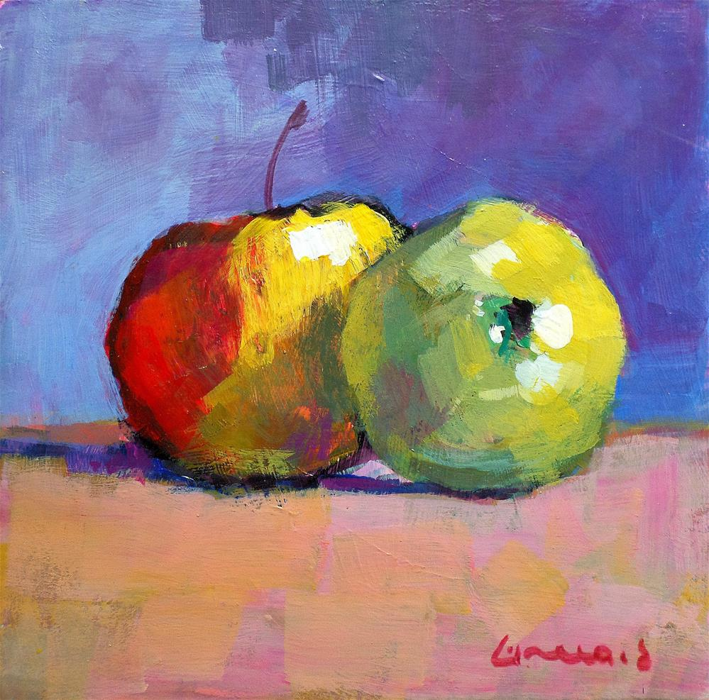 """apple"" original fine art by salvatore greco"
