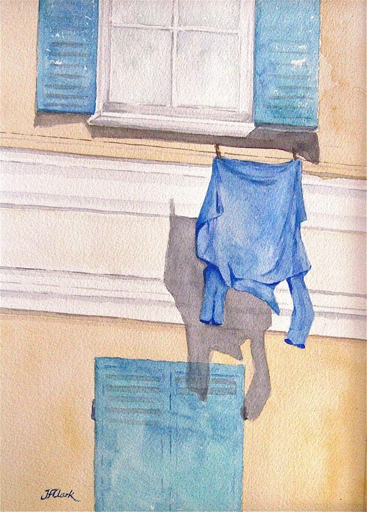 """The Blue Shirt"" original fine art by Judith Freeman Clark"