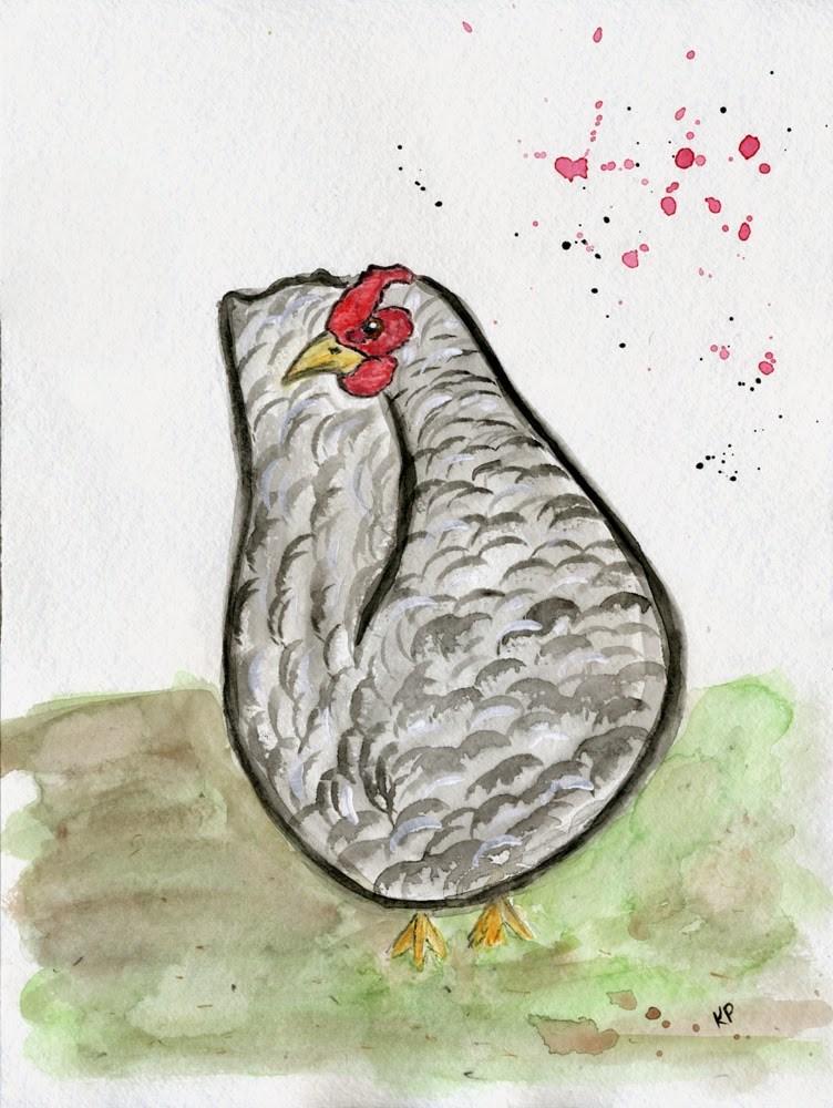 """""""Runaway Chicken"""" original fine art by Kali Parsons"""