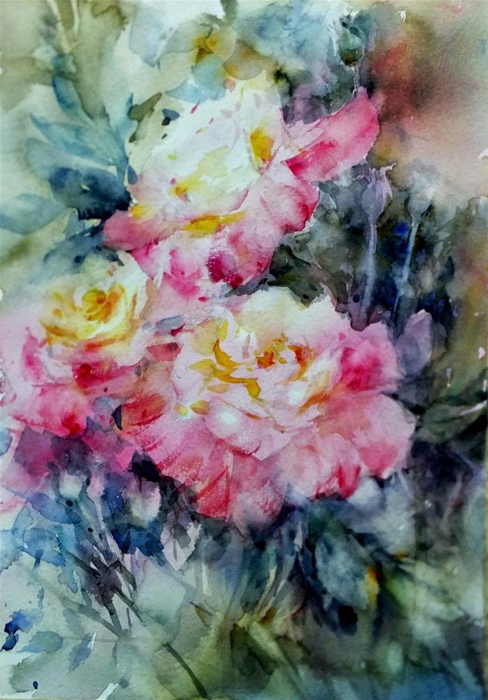 """Blooming"" original fine art by Midori Yoshino"