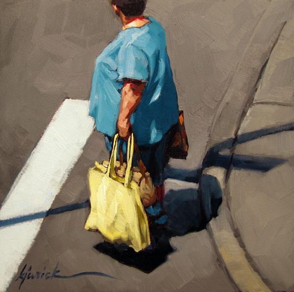 """Bag Lady"" original fine art by Karin Jurick"