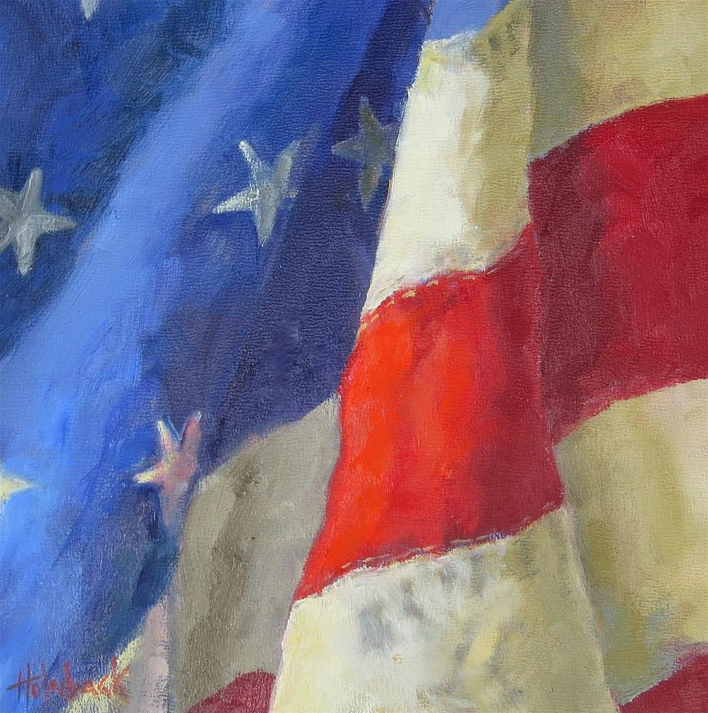 """Stars and Stripes - Memorial Day 2014"" original fine art by Pam Holnback"