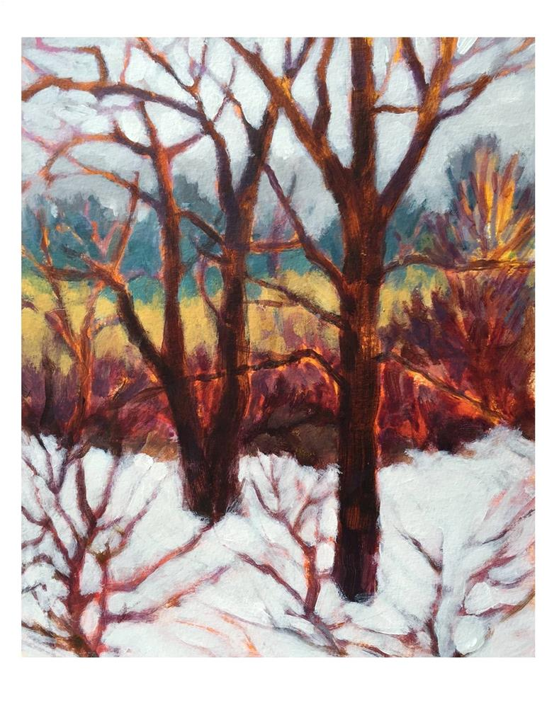 """April Snow Day 2"" original fine art by Suzanne Woodward"