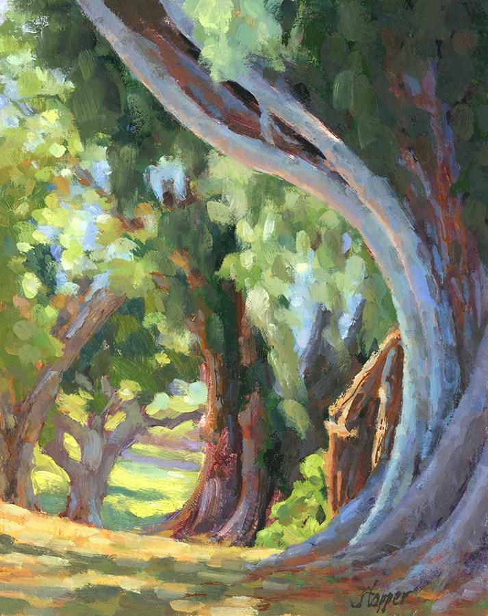 """""""Hui No'eau Trees"""" original fine art by Joanne Hopper"""