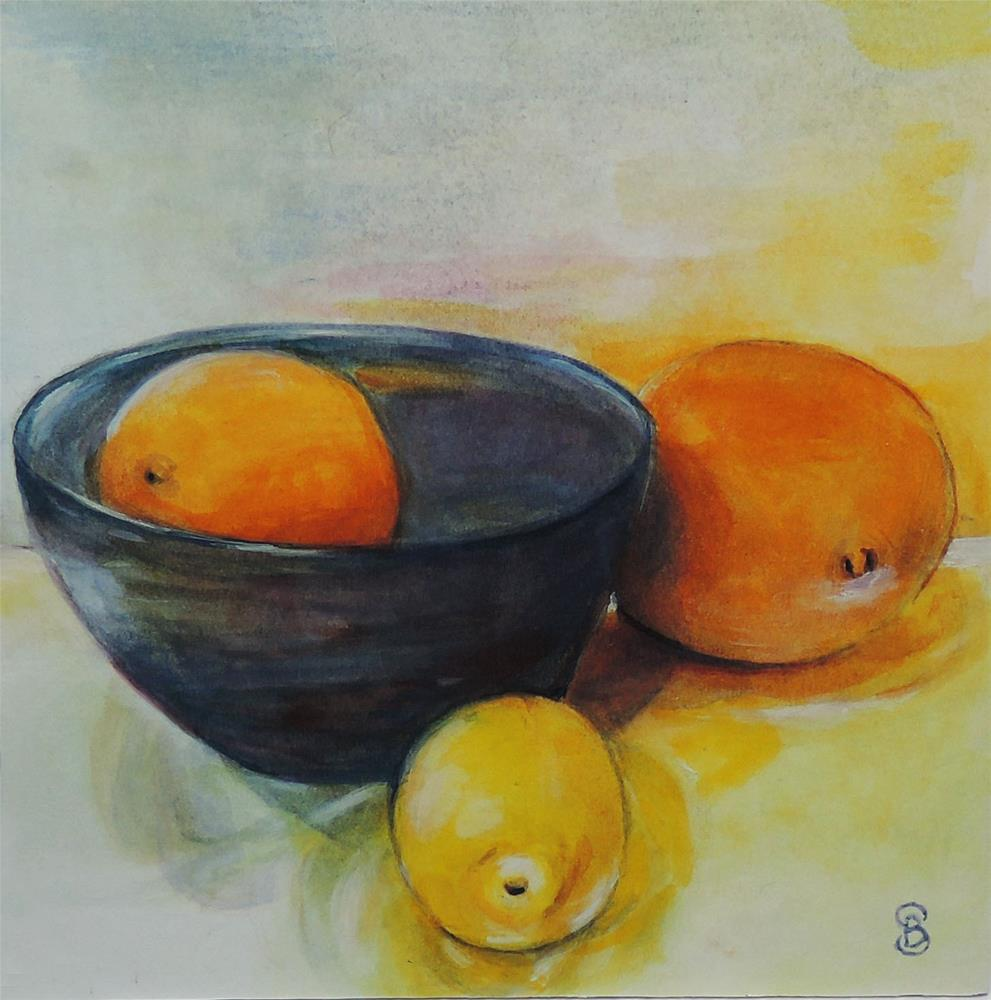 """Citrus Glow"" original fine art by Belinda Scheber"