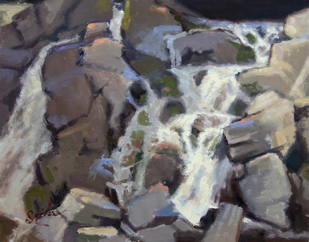 """Upper Fumee Falls in Shadow"" original fine art by Larry Seiler"