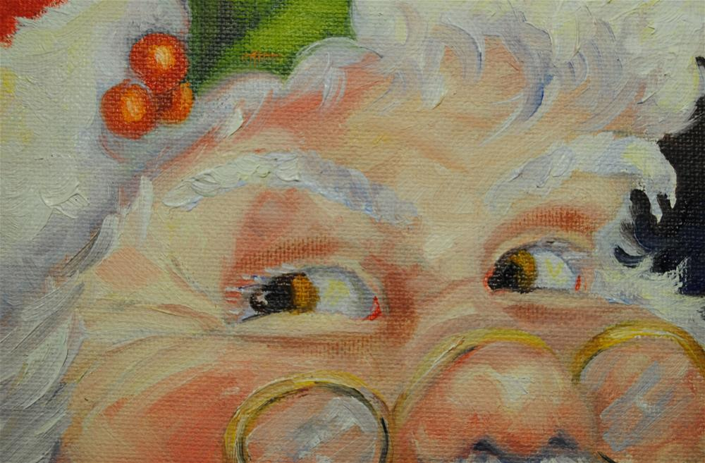 """Eyes of the Big Guy"" original fine art by Nan Perry"