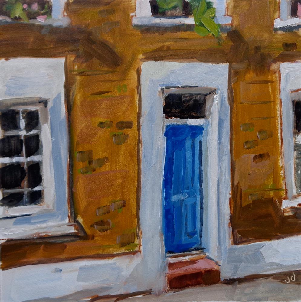 """BLUE DOOR"" original fine art by Jean Delaney"