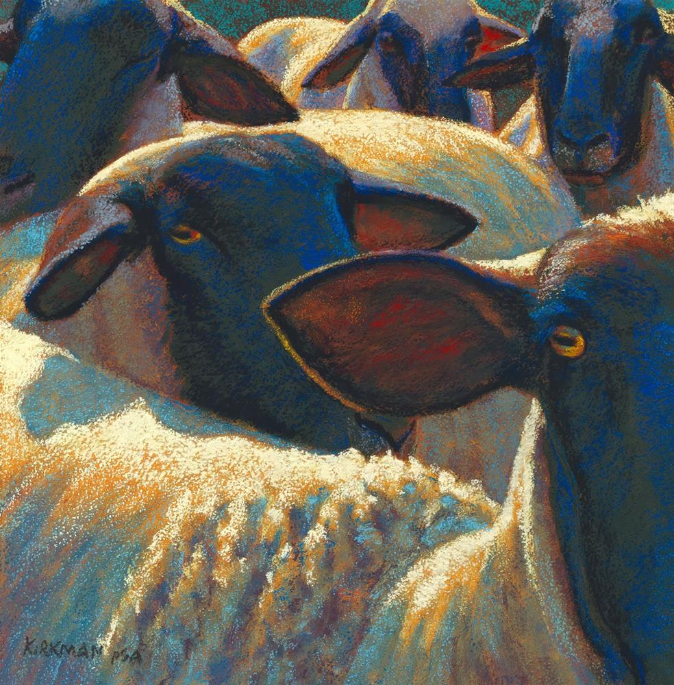 """4 And a Half Sheep in Southwest Art"" original fine art by Rita Kirkman"