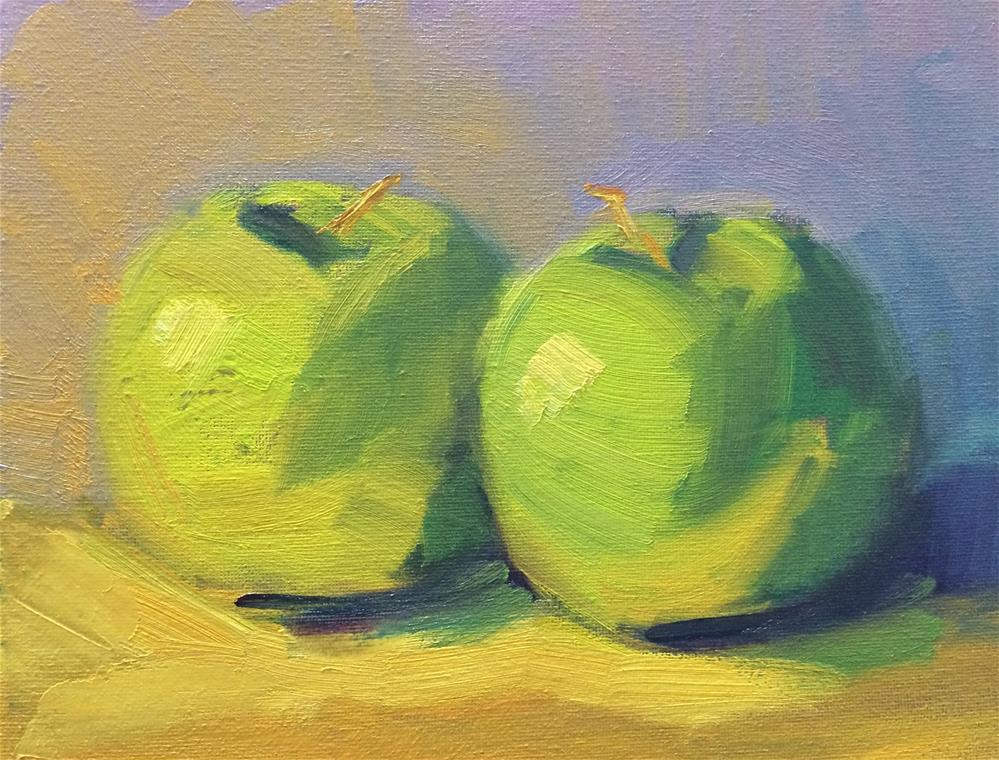 """Green Apples"" original fine art by Naomi Bautista"