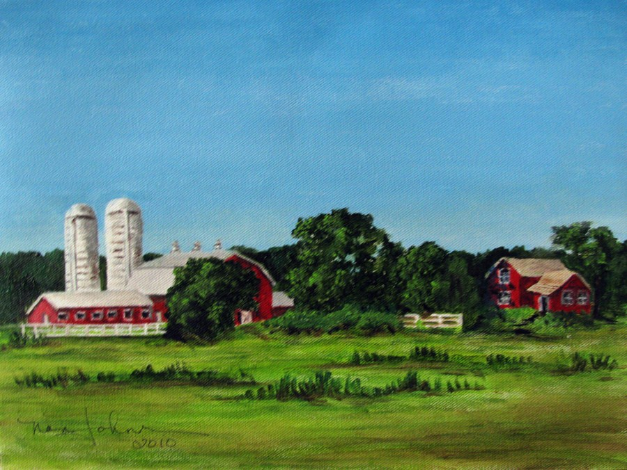 """Working Farm"" original fine art by Nan Johnson"