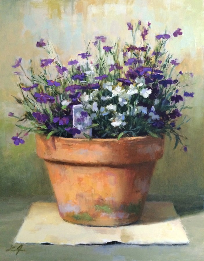 """Lobelia"" original fine art by Linda Jacobus"
