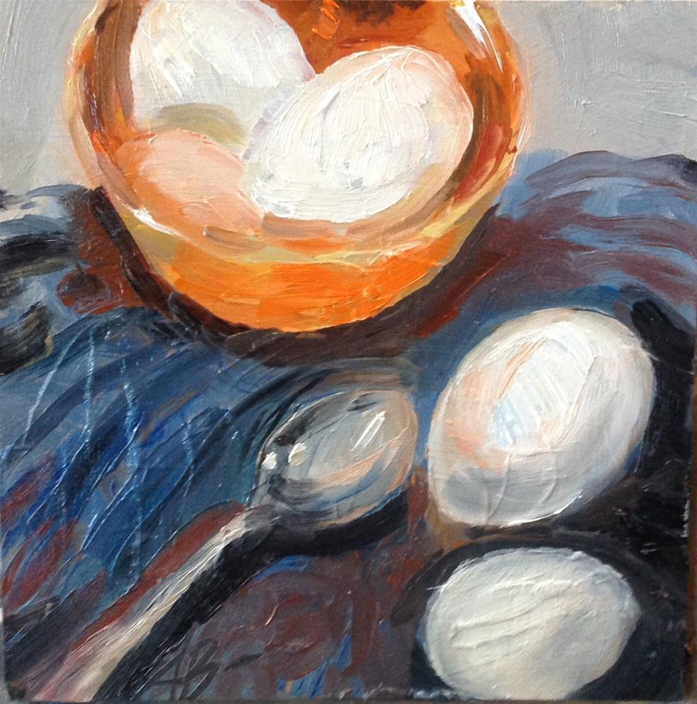 """Eggs unbroken "" original fine art by Annette Balesteri"
