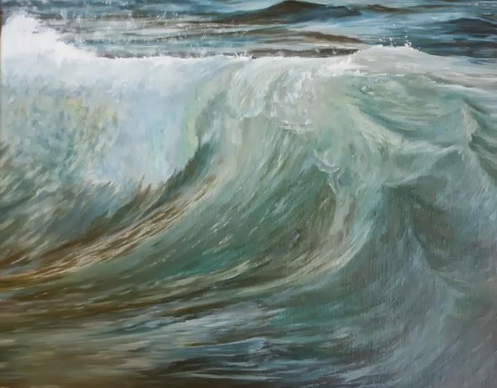 """""""Calm and Rough"""" original fine art by Karen Stitt"""